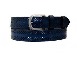 Синий кожаный женский ремень K3501-3bl_0