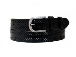 Чёрный кожаный женский ремень K3501-3b