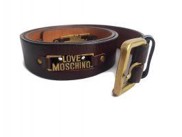 Кожаный ремень Moschino 2212 Brown_1