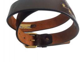 Кожаный ремень Moschino 2212 Brown_4