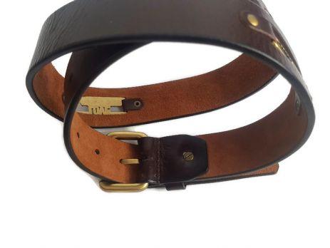 Кожаный ремень Moschino 2212 Brown