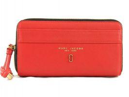 Кошелёк женский кожаный Marc Jacobs 1102 E Red_5