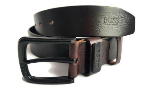 Ремень кожаный Boss 80307 Dark brown