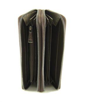 Кожаный клатч-кошелёк Philipp Plein 251 B Brown