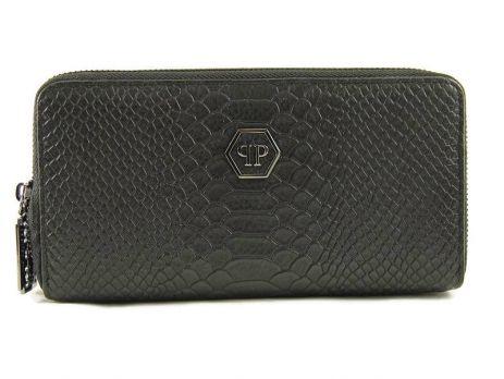 Кожаный клатч-кошелёк Philipp Plein 251 A Black