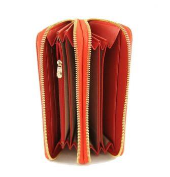 Женский кожаный клатч-кошелёк на молнии Coccinelle 8263 E