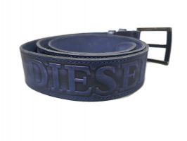 Ремень кожаный синий Diesel_2