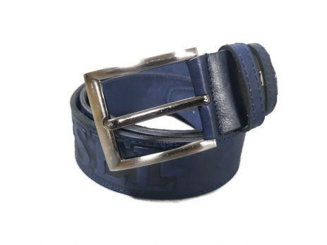 Ремень кожаный синий Diesel