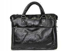 Мужская кожаная деловая сумка NN 147-5-168 Black_0