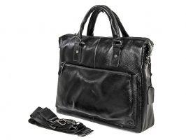 Мужская кожаная деловая сумка NN 147-5-168 Black_1