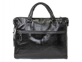 Мужская кожаная деловая сумка NN 147-5-168 Black_2