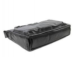 Мужская кожаная деловая сумка NN 147-5-168 Black_3