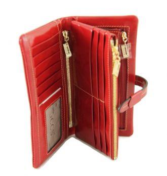 Кошелёк женский кожаный JCCS 1028A Red