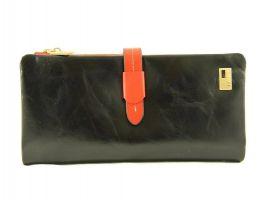 Кошелёк женский кожаный JCCS 1028A Black/P.Red
