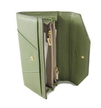 Кошелёк женский кожаный JCCS 3130A Green