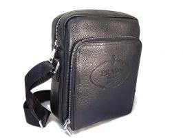 Мужская кожаная сумка Prada black_0