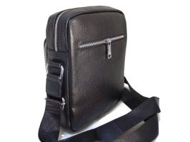 Мужская кожаная сумка Prada black_1