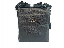 Мужская кожаная сумка AJ 1024-2 Black