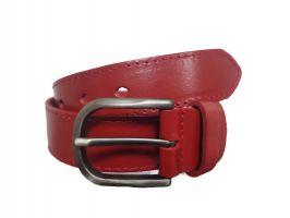 Женский ремень кожаный красный AWG-3501-1r_0