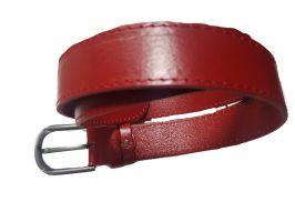 Женский ремень кожаный красный AWG-3501-1r_2
