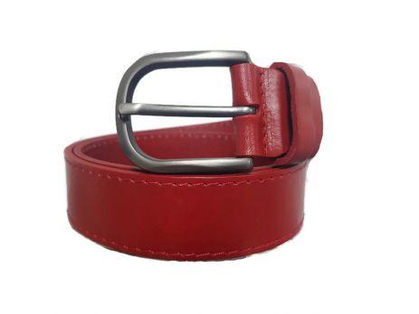Женский ремень кожаный красный AWG-3501-1r