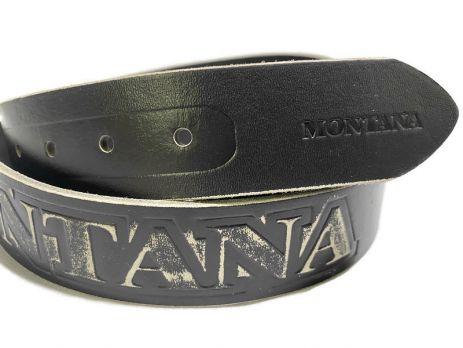 Кожаный ремень Монтана (Montana) grey