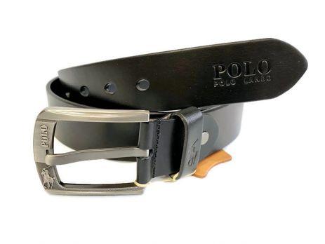 Ремень кожаный POLO black 1289