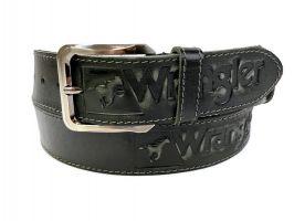 Кожаный ремень Wrangler black 1294_1