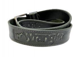 Кожаный ремень Wrangler black 1294_2