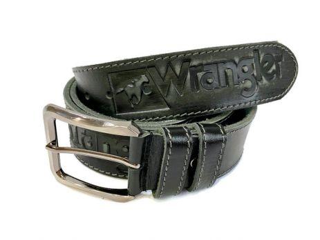 Кожаный ремень Wrangler black 1294