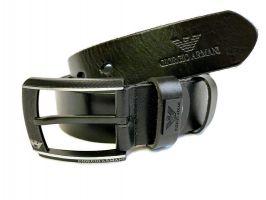 Кожаный ремень Armani black 1298