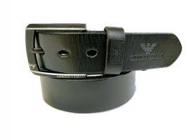Кожаный ремень Armani black 1298_1