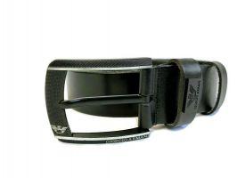 Кожаный ремень Armani black 1298_2