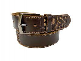 Кожаный ремень Boss brown 1300_1
