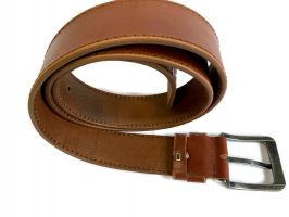 Кожаный ремень Levis brown 1303_4