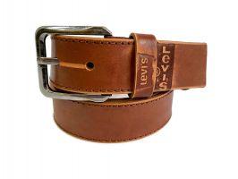 Кожаный ремень Levis brown 1303_3