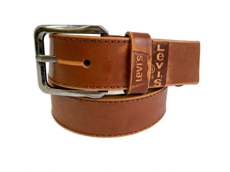 Кожаный ремень Levis brown 1303