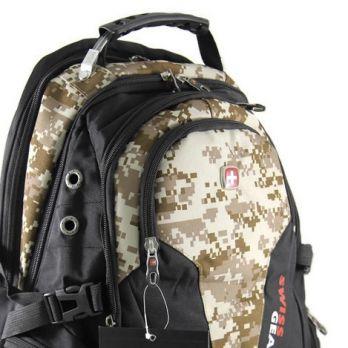 Рюкзак SwissGear 9385 Чёрно-бежевый