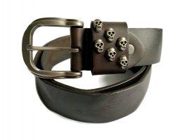 Ремень кожаный Diesel Skull_0