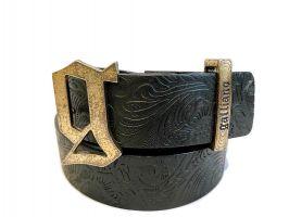 Ремень кожаный John Galliano (Гальяно) black_1