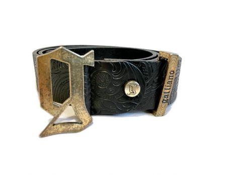 Ремень кожаный John Galliano (Гальяно) black