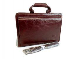 Портфель кожаный Rock Feld 05-15310 Brown_2