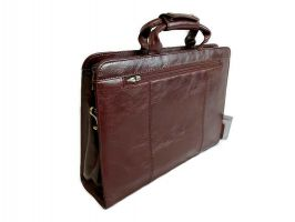 Портфель кожаный Rock Feld 05-15310 Brown_4