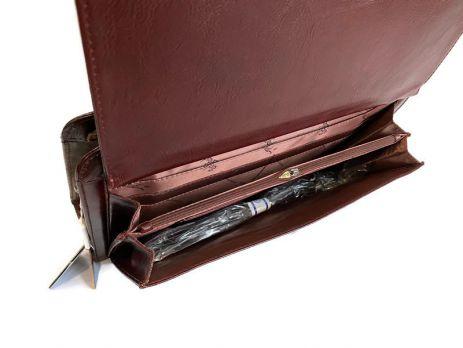 Портфель кожаный Rock Feld 05-15310 Brown