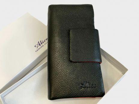 Кошелёк женский кожаный Alice 10-9909A black