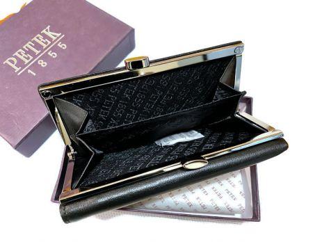 Кошелёк женский кожаный Petek 1716 A Black