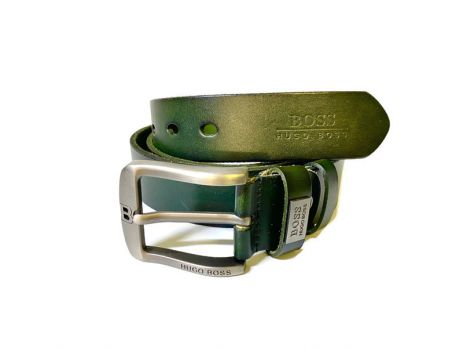 Кожаный ремень Boss green 1339