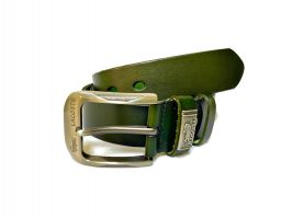 Ремень кожаный Lacoste green 1340_1
