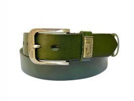 Ремень кожаный Lacoste green 1340_0