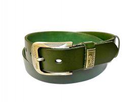 Ремень кожаный Lacoste green 1340_2